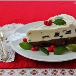 Wintergreen ice cream brownie torte