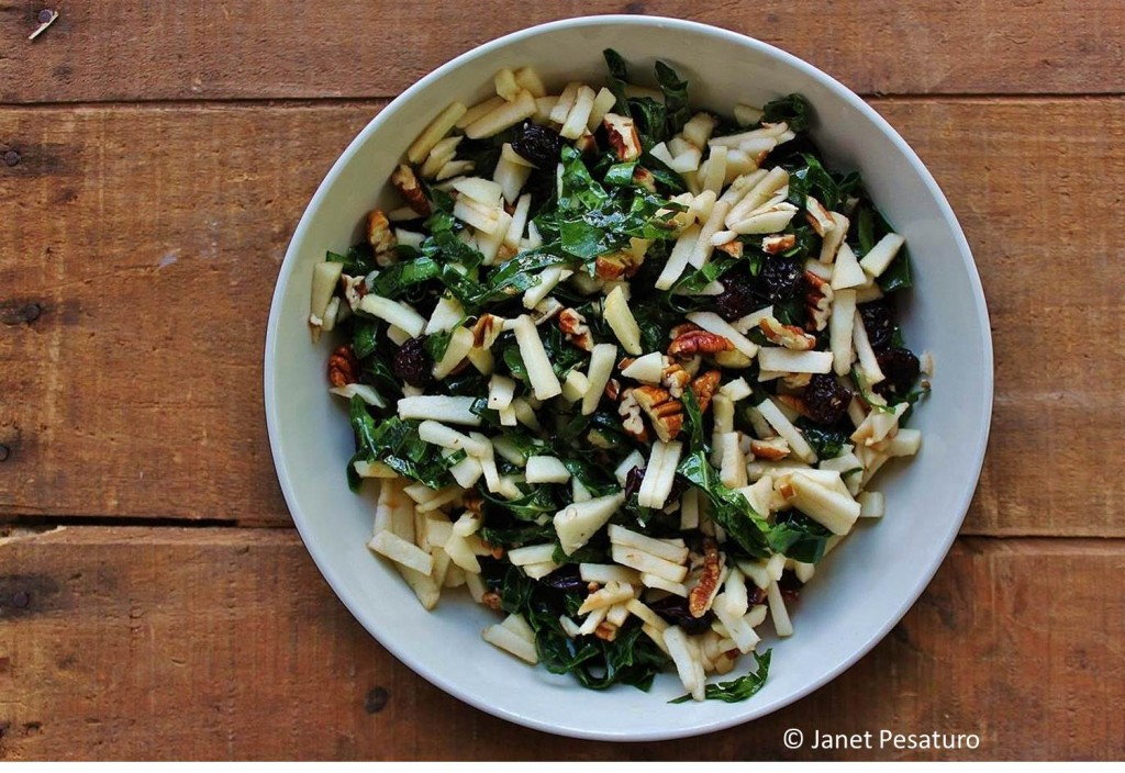 Kale salad with maple vinaigrette