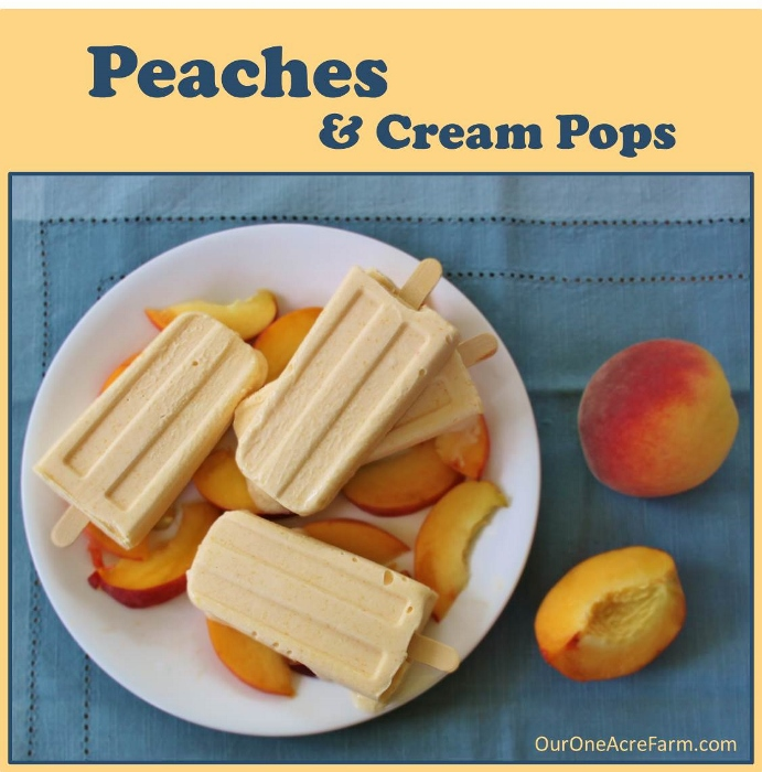 Peaches and Cream Pops or Peach Ice Cream -