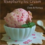 Raspberry Ice Cream with Oats and Honey