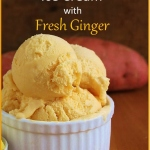 Sweet Potato Ginger Ice Cream