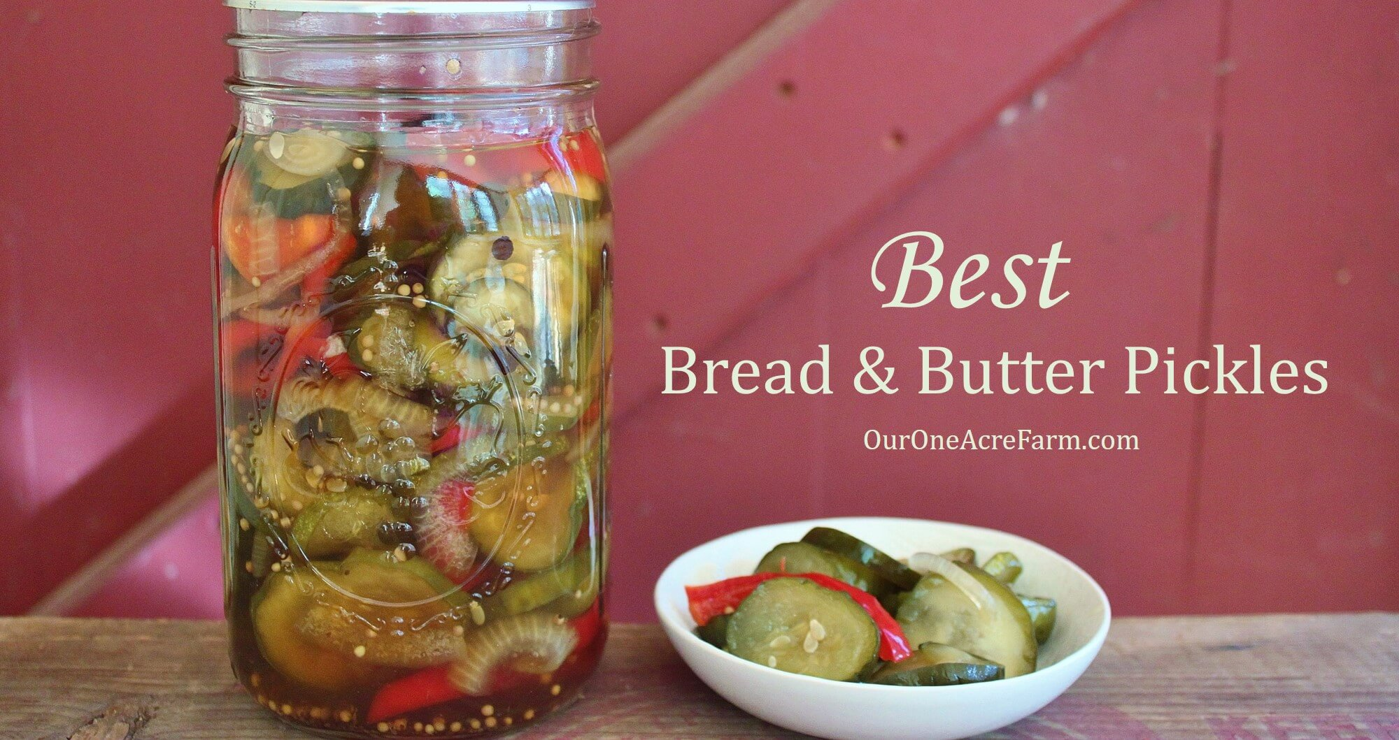 Old fashioned bread and butter pickles 37