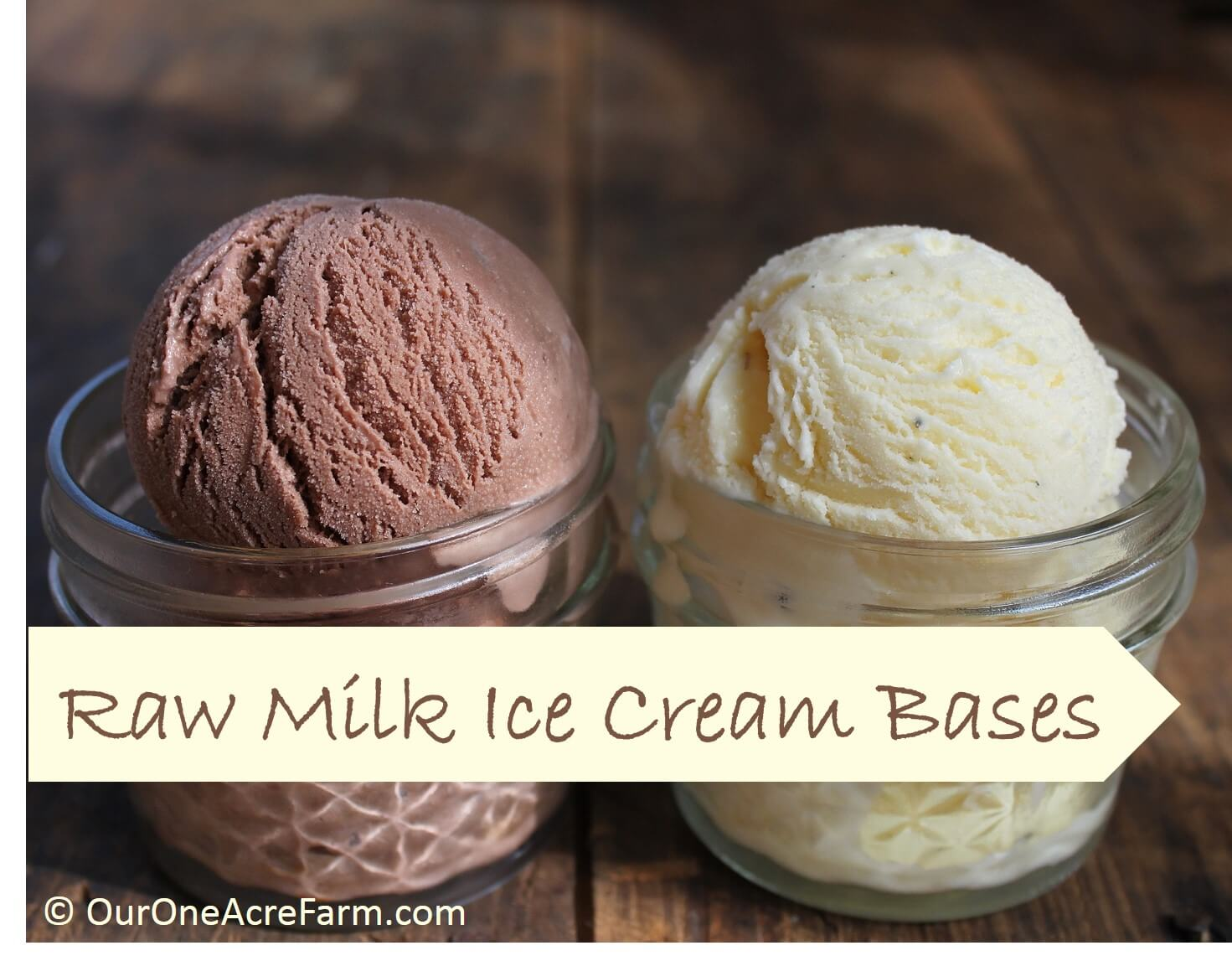 One Acre Farm Chocolate Ice Cream Raw Milk